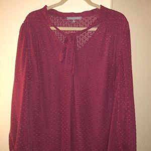 Daniel Rainn Brown sheer 3x blouse